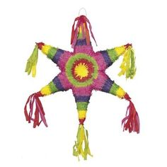 """Amazon.com: Unique Industries Educational Products - Pinata 22""""X19""""-Mexican Star - 6730: Toys & Games"""