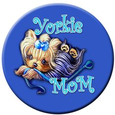 Yorkie Mom Yorkshire Terrier Personalized by ladyjanesposinparlor