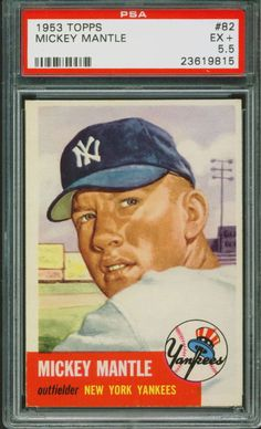 1953 Topps Baseball Mickey Mantle #82 PSA 5.5 YANKEES EX+ HOF #NewYorkYankees