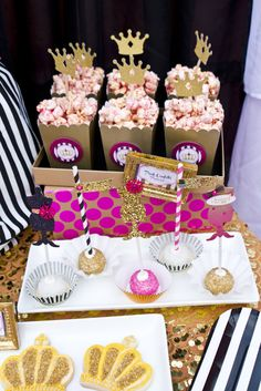 Delicious treats at a Favorite Things birthday party!  See more party ideas at CatchMyParty.com!