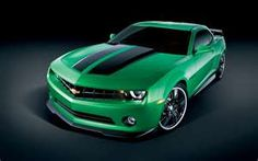 Lord, forgive me...for I covet this car!!! Synergy Green 2012 Chevy Camaro w/ black racing stripes!!!!!!
