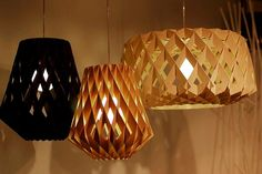 Black and natural wooden lamps Pilke lamps by Tuukka Halonen, Showroom Finland.