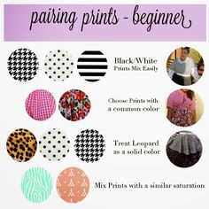 Garner Style - Mixing Prints for beginners Pattern Mixing Outfits, Mixing Patterns, Garner Style, Fashion Dictionary, Fashion Vocabulary, Mode Plus, Black And White Prints, Fashion Mode, Fashion Tips