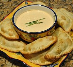 Beef Empanadas with Sofrito Sauce - my mouth is watering!