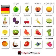 Das Obst - Fruit german vocabulary  voir aussi. http://steph.raymond.free.fr/6LV1/index6LV1.php