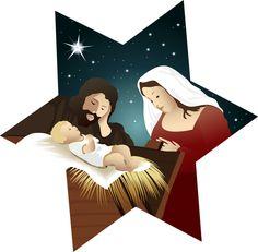 CHRISTMAS NATIVITY STAR CLIP ART
