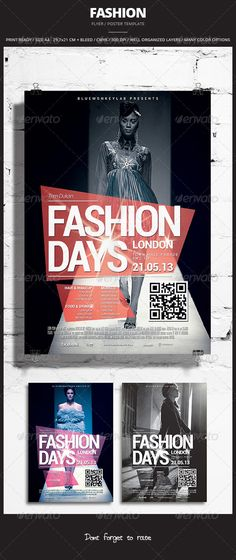 Fashion Flyer / Poster 2  #GraphicRiver        Fashion Flyer / Poster 2 Promote any kind of event. Fashion, Photography, Concert, Festival, Party or weekly event in a music club and other kind of special evenings. Help File included.    1 psd File  Print Ready  A4 29,7×21 CM + bleed  300 dpi  CMYK  Well Organized Layers  Professional & clean design  Easy to use  Help File  Photos in preview are NOT included. They're only for illustration purpose. You can quickly replace the default image…