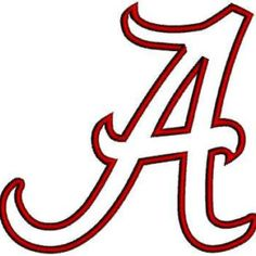 alabama a template alabama football a text outline coloring page rh pinterest co uk alabama football logo stencil alabama football logo stencil