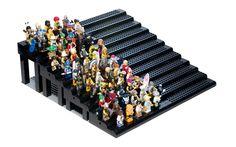 Modular Lego Minifig Display using Pick-a-Brick parts.