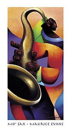Mo' Sax Maurice Evans Fine Art Print Poster