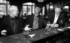 Michael Caine,  Morgan Freeman and Liam Neeson