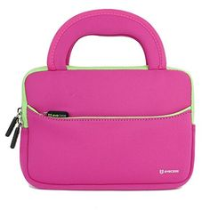 Evecase® 7 ~ 8 inch Tablet Ultra-Portable Neoprene Zipper Carrying Sleeve Case Bag with Accessory Pocket - Hot Pink / Green - Evecase Ultra-portable Universal Neoprene Carrying Case is a lightweight, portable sleeve that is great for protecting your device from scratches and minor impacts. Made of water resistant neoprene, this durable, shock absorbing sleeve is ideal for taking your device on the go. Easily carry your... - http://buytrusts.com/giftsets/tablet-accessories/ev