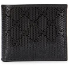 Gucci GG black glossed leather wallet ❤ liked on Polyvore featuring bags, wallets, black leather bag, leather snap wallet, gucci wallet, black leather wallet and leather coin wallet