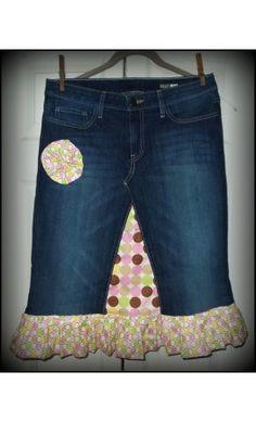 Denim Skirt w/Ruffle 'Lollipop Girl' - Apostolic Clothing