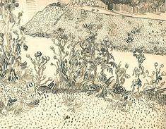 vincentvangogh-art:  Thistles Along the Roadside, 1888 Vincent van Gogh