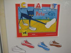 Pin the sneaker on Pete the Cat