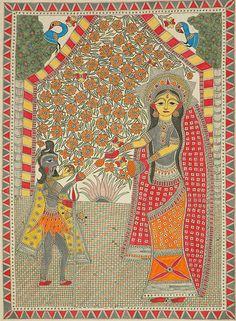 Parvati as Devi Annapurna with Lord Shiva