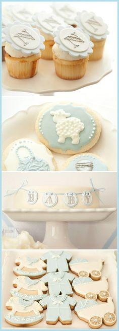 Boy baby shower desserts by Sunshine888