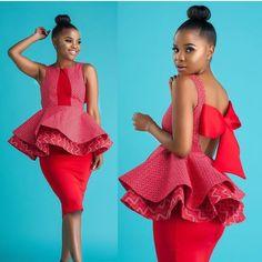 African formal attire for black women - shweshwe African Fashion Skirts, South African Fashion, African Fashion Designers, African Print Dresses, Africa Fashion, African Dress, African Prints, African Traditional Wedding, Traditional Dresses