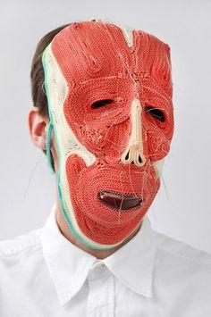 Ropemask - Bert Jan Pot Textiles, Kasimir Und Karoline, Colored Rope, Creation Art, Colossal Art, Art Textile, Best Masks, Masks Art, Mask Making