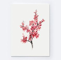Mother's Day Cherry Blossom Set of 2 Abstract Tree