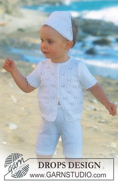 DROPS shorts, jakke med korte ærmer og tørklæde i Safran. Gratis opskrifter fra DROPS Design.