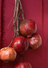 pomegranate - love the shape, the color, the taste.