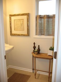 Loving this window treatment for my own bathroom window small do it yourself burlap privacy curtains potential for main floor guest bath solutioingenieria Images