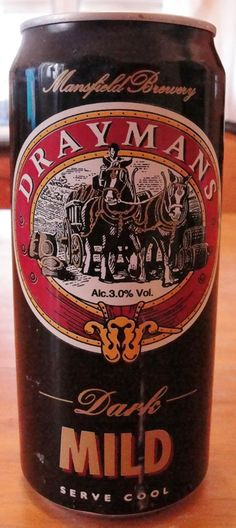 Mansfield Brewery - Drayman's Dark Mild 3,0% tölkki /hana HBF 15.4.1999