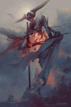 The astonishing fantasy themed paintings and illustrations of concept artist and illustrator Peter Mohrbacher. Dark Fantasy Art, Fantasy Artwork, Dark Art, Fantasy Paintings, Monster Art, Fantasy Monster, Arte Horror, Horror Art, Arte Obscura