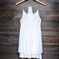 bohemian day dress - white