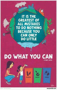 """Helemaal mee eens! Alle kleine beetjes helpen :) """"Do what you can - it WILL make a difference!"""""""