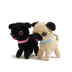 Crochet de Carlin chien patron pdf, instructions d