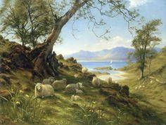 Joseph Farquharson Original | JOSEPH-FARQUHARSON-SHEEP-IN-SPRINGTIME-CANVAS-PRINT
