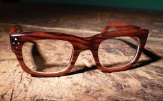 Wooden eyeglass frames from Urban Spectacles