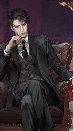 A Pin for you - - A Pin for you Anime Style Anime Sexy, Anime Sensual, Hot Anime Boy, Cute Anime Guys, Anime Male, Yakuza Anime, Anime Characters Male, Dark Anime Guys, Anime Couples Manga