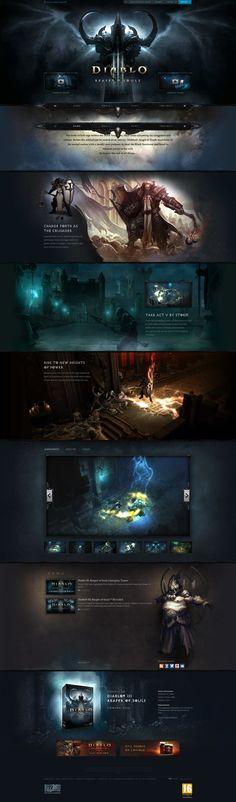 Cool Web Design on the Internet, Diablo III. #webdesign #webdevelopment #website @ http://www.pinterest.com/alfredchong/web-design/