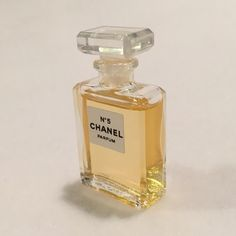 SALEChanel No. 5 Perfume Mini Parfum Miniature Chanel No. 5 perfume mini. New & unused. Part of a Limited Edition perfume wardrobe collectible gift set. Bottle contains 0.12 fl oz (3.5 ml) of Chanel No 5 Parfum. Dab-on, not a spray bottle & not a sample - a Perfume Mini that was only available as part of a gift set sold a couple years ago. This is pure parfum, not the less-concentrated Eau de Parfum (EDP), or Eau de Toilette (EDT). A little goes a long way. See ruler in picture for size…