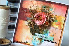 Dzień dobry!   Dziś mam dla Was kartkę. Stworzoną dla Berry71Bleu  na kwietniowe wyzwanie.     Hello!   Today I have for You a card...