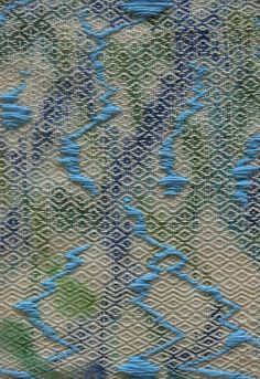 Stacey Harimoto Woven Fabric, Textile Art, Weaving, Fabrics, Tropical, Student, Embroidery, Patterns, Knitting