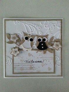 carte de félicitations beige pour un mariage : Cartes par aure-scrap-creations