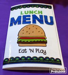 Restaurant Dramatic Play Center from Play to Learn Preschool