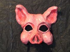 paper mache pig mask - Google Search