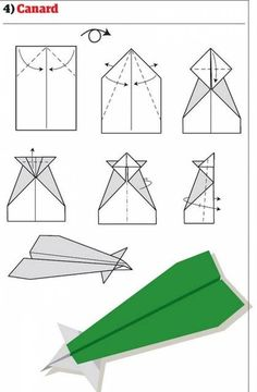 Pappersflygplan 4 - Canard