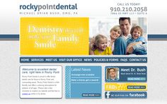 Rocky Point Dental wanted to develop an online presence to grow their practice, so we developed a design that is simple and informative. The site's home page is clean and crisp, with access to Facebook, and showcases the latest posts from their news blog.