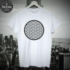 Hypno Mandala T-Shirt Tee Unisex Hipster Raw by Pointofviewshop