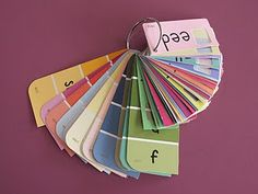 great idea - paint chips with letters