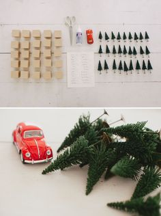 Christmas tree forest advent - you really have to go look at the finished picture, but this is a truly cute idea!!