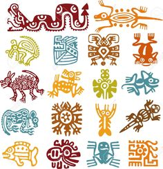 Aztec Art Cliparts, Stock Vector And Royalty Free Aztec Art ...