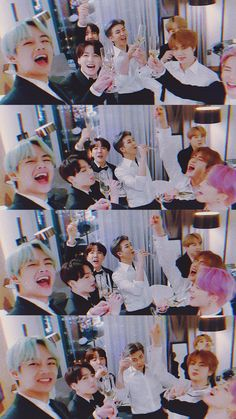 The way jimin drank that champagne Namjoon, Bts Taehyung, Seokjin, Jimin Jungkook, Vlive Bts, Bts Bangtan Boy, Foto Bts, V Chibi, Les Bts